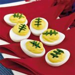 Deviled egg footballs