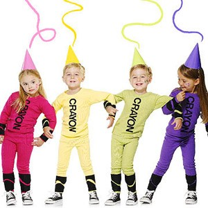 kids in crayon costumes