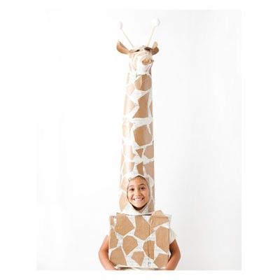 giraffe costume made out of cardboard
