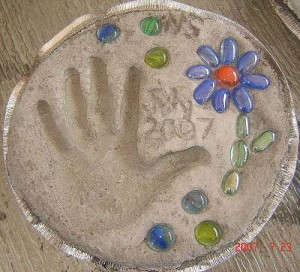 Mother's Day hand imprint gift