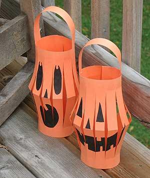 homemade oumpkin lanterns