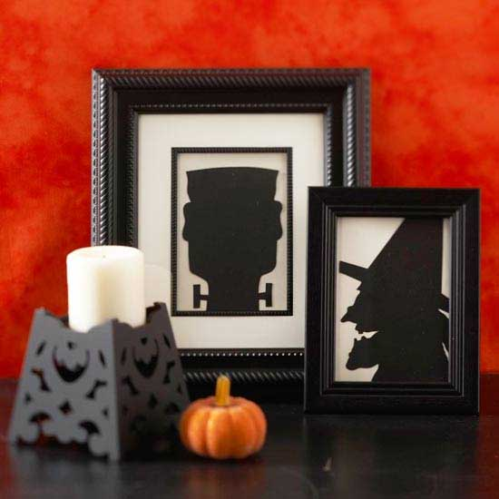 spooky siloettes arts and crafts