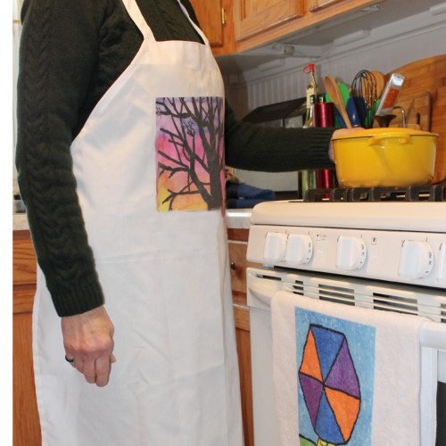 Chef's apron customized with your child's artwork