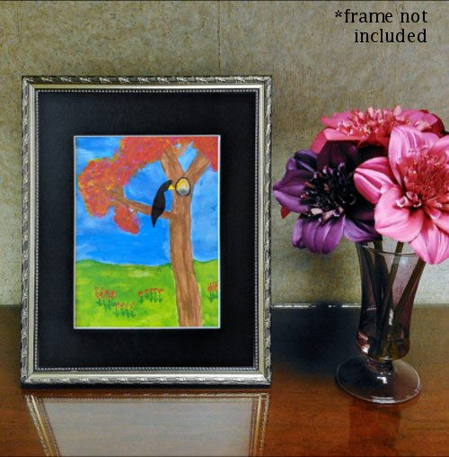 Matted Print Of Child's Artwork