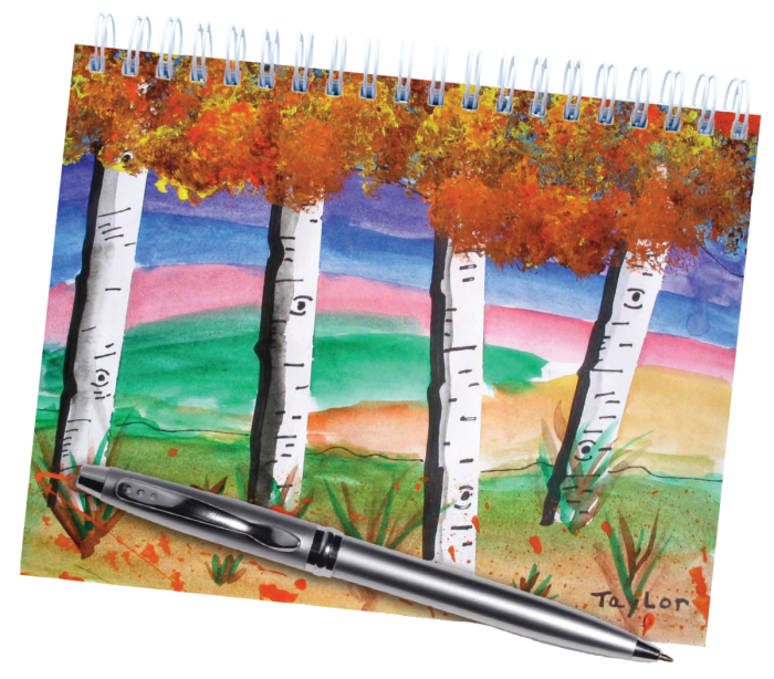 journal cover with trees