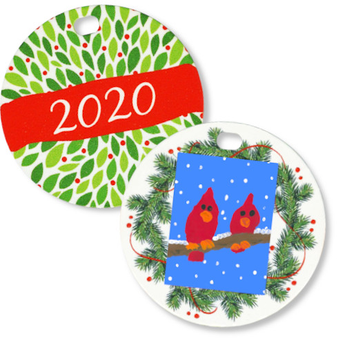 Personalized wreath ornament